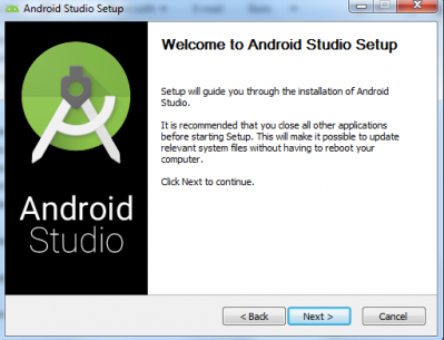 Follow the Android Studio wizard