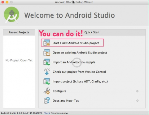 Start a new Android project