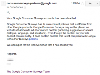 Google Surveys Reversal